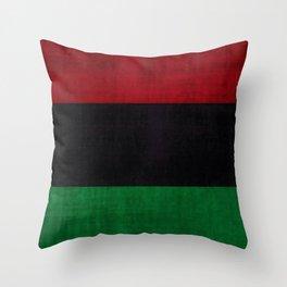 UNIA flag, Afro-American flag, Black Liberation flag Motif Throw Pillow