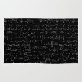 Chalk board mathematics pattern Rug