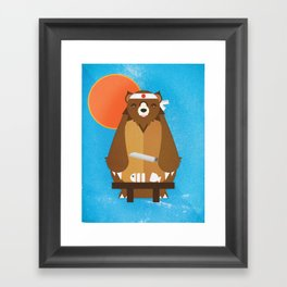 Sushi Bear Framed Art Print