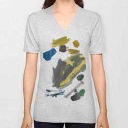 Think Big Watercolor Unisex V-Neck