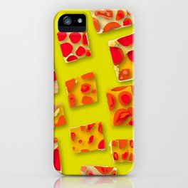 red spotted rectangles iPhone Case