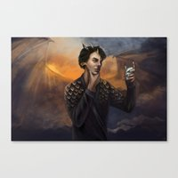 smaug Canvas Prints featuring Smaug by Juli Grey