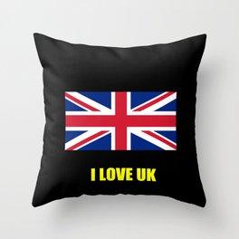 Flag of UK 7- London,united kingdom,england,english,british,great britain,Glasgow,scotland,wales Throw Pillow