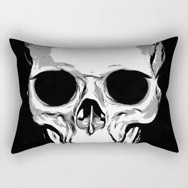 Monotone Skull Rectangular Pillow