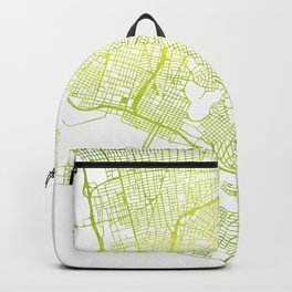 Lime Watercolor • Vector Map of Oakland, California • East Bay Backpack