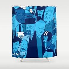 Breaking Bad (blue version) Shower Curtain