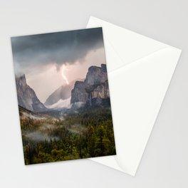 Yosemite National Park Light Show Stationery Cards