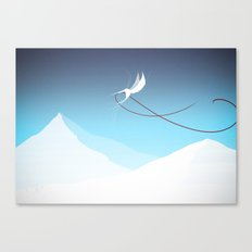 Hummingbird and a red thread Canvas Print