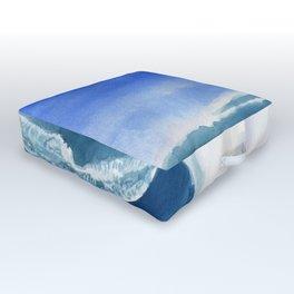 Windsurfer Watercolor Painting Outdoor Floor Cushion