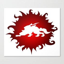 Amaterasu Logo- White Canvas Print