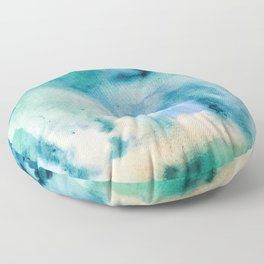 Watercolor abstract many color no.16 Floor Pillow