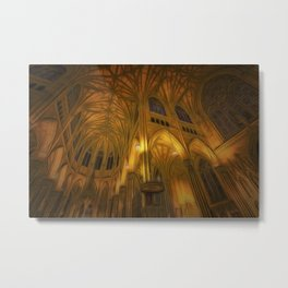 Cathedral Golden Light Metal Print