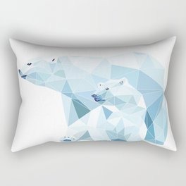 polygonal polar bear Rectangular Pillow