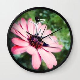 Comme une fleur Wall Clock