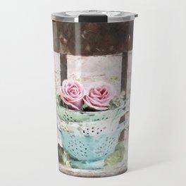 Colander Roses Travel Mug