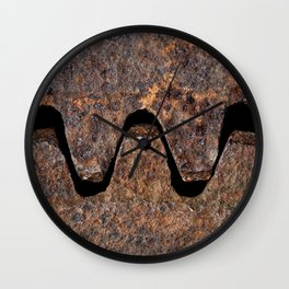 Old and rusty cogwheels Wall Clock