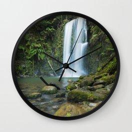 I - Rainforest waterfalls, Beauchamp Falls, Great Otway NP, Victoria, Australia Wall Clock