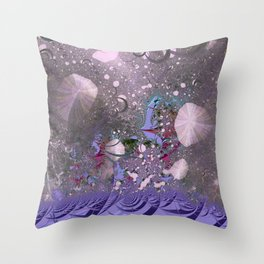 The ocean and skies of random thoughts Throw Pillow