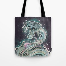 Saber-toothed Serpent in Space. Tote Bag