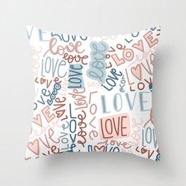 love, love, love Throw Pillow