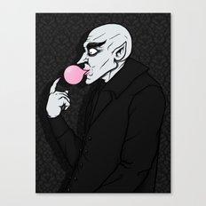 Popping Bubblegum Bubble  Canvas Print