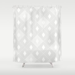 Harlequins Pattern - Ghost White Shower Curtain