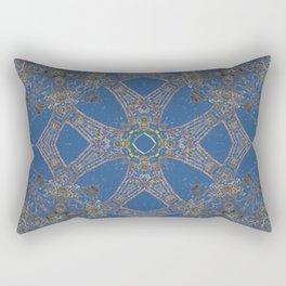 Ashanti Blue Rectangular Pillow