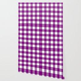 Gingham (Purple/White) Wallpaper