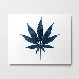 Cannabis leaf Metal Print