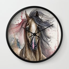 Arabian Horse Wall Clock