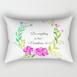 Do Everything in Love 1 Corinthians 16:14 Rectangular Pillow