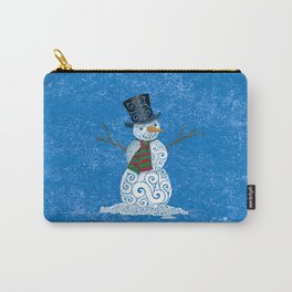 Swirly Snowman Carry-All Pouch