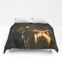 Old men with a dog - Bordeaux Comforters