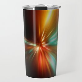 abstract acceleration speed motion on night road Travel Mug