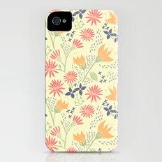 Autumn Floral Pattern Slim Case iPhone (4, 4s)