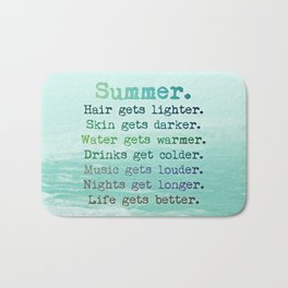 SUMMER by Monika Strigel Bath Mat