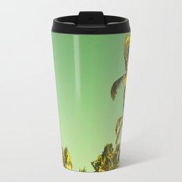 palm love in tropical green gold jewel tones Travel Mug