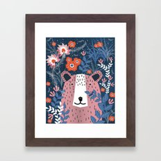 Bear Garden Framed Art Print