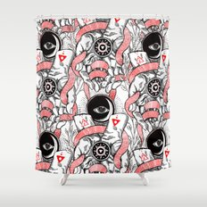 The Blood offering Shower Curtain