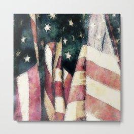 Vintage American Flags Metal Print