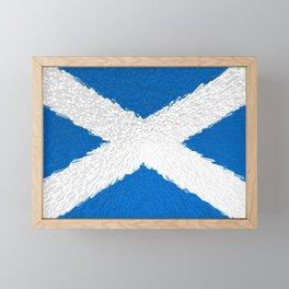 Extruded flag of Scotland Framed Mini Art Print