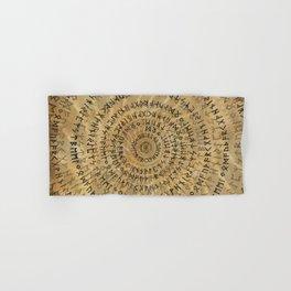 Elder Futhark Spiral Art on Wooden texture Hand & Bath Towel
