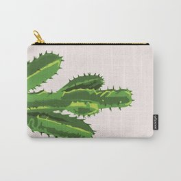 Desert Pride - Cereus Cactus pink and Green Carry-All Pouch