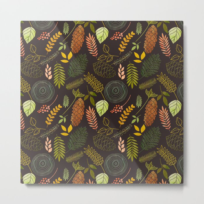 My favorite color is october- autumnal leaves pattern Metal Print