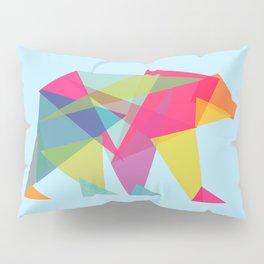 Fractal Bear - neon colorways Pillow Sham