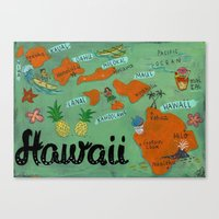 hawaii Canvas Prints featuring HAWAII by Christiane Engel