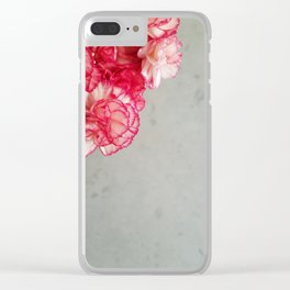 Corner  Pink Carnations Clear iPhone Case