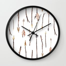 Boho Arrows with Feathers Wall Clock