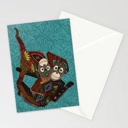 orangutans blue Stationery Cards
