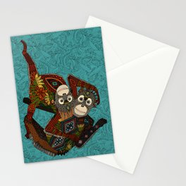 orangutans blue Stationery Cards